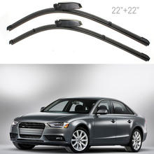 High Quality 2X 22 Left Right Windscreen Wiper Blade For Audi A4 B6 B7 S4 RS4