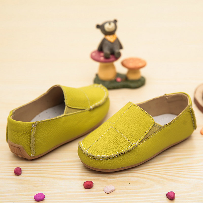 2016 New Spring children font b shoes b font genuine leather peas boys font b shoes