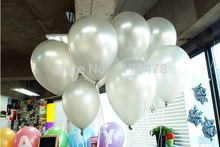 100pc Silver color Latex Helium Inflable Ball Ballon Wedding Party supplies And Birthday Decoration Pearl Balloon 100pc 1.2g