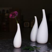 3 pcs Modern Porcelain Flower Vase Set All White Ceramic Wedding Ornaments Ceramic Home Decoration Indoor LZH3024(China (Mainland))