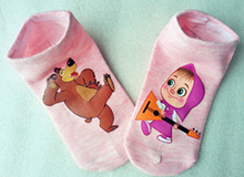 Wholesale cotton children socks kids socks for girls boys 6-14 Age cartoon pattern 5 colors ZL0718(China (Mainland))