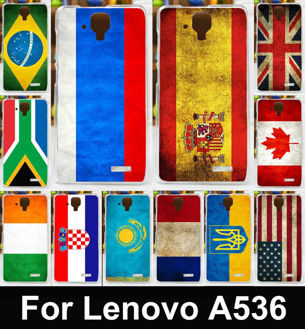 Retro UK Mexico Russia Brazil National Flag Phone Case For Lenovo A536 A358T A 536 Cases Covers Skin Housing Bags Soft TPU Shell(China (Mainland))