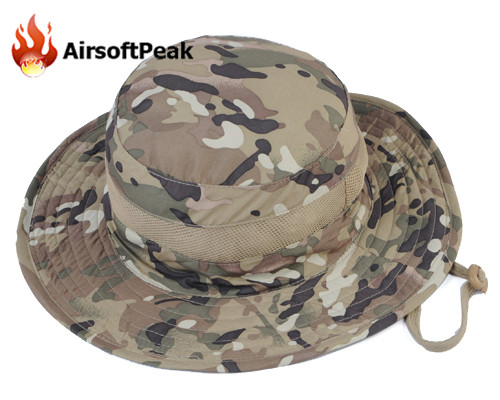 Breathable Mesh Boonie Hats Airsoft Hiking Fishing Military Adjustable Camouflage Fisherman Bucket Hat Tactical Flat-top Cap