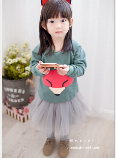 2016 Spring   Kids Clothing Set   Printed Cotton Children coat  Baby  Girls  Style Clothing size 90-100-110-120-130 <br><br>Aliexpress