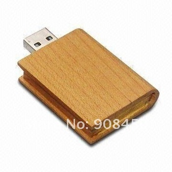 Hot Wooden Book USB Flash Disk with High Speed Data Transfer Performance USB Stick Manufacturer+Free Cutom Logo