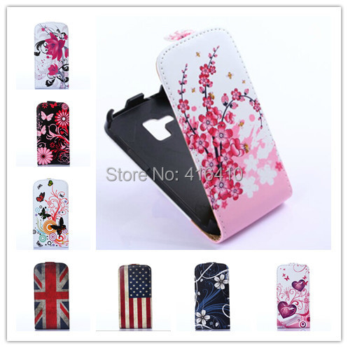 Color Butterflies Leather Cell Phones CASE FOR Samsung Galaxy S Duos GT-S7562 S7562 S7560 Duos 2 S7582/Trend Plus S7580(China (Mainland))