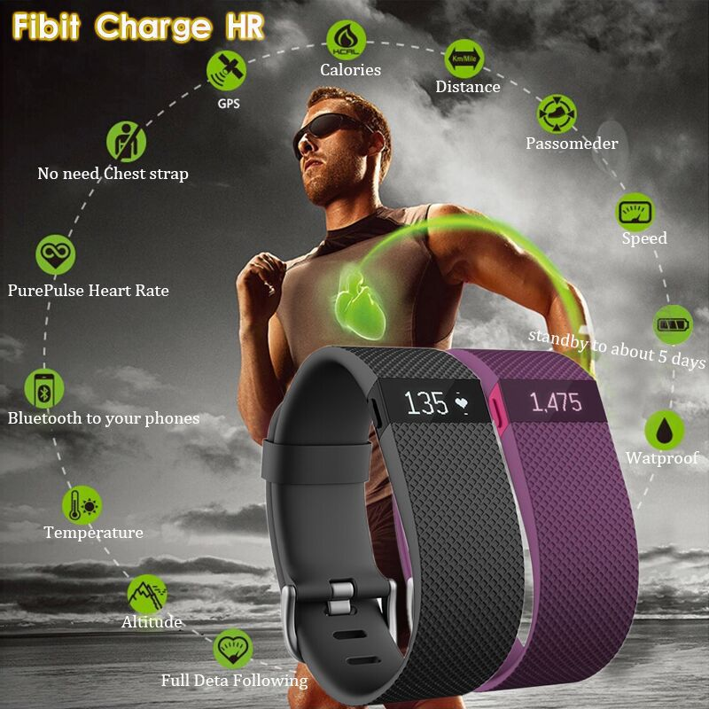 Image result for Fitbit Charge HR Wireless Activity Wristband
