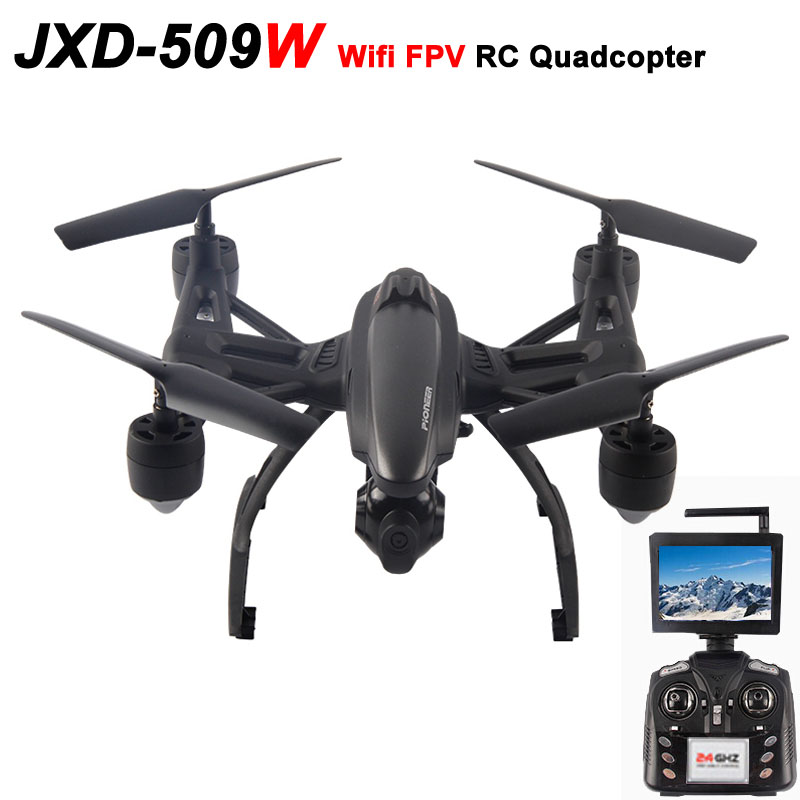 JXD 509W Wifi FPV Real-time Transmission High Hold Mode One Key Return RC Quadcopter RTF 2.4GHz drone with 0.3MP Camera<br><br>Aliexpress