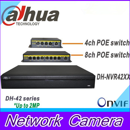 Dahua NVR DH-NVR4208 DH-NVR4216 POE switch Plug &amp; Play 8CH Up to 2MP Onvif Network video recorder<br><br>Aliexpress