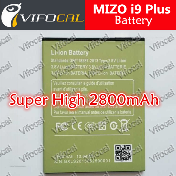 MIZO i9 Plus battery 2800mAh Super High Large 100% Original Replacement Accessory For Mobile Phone + Free Shipping + In Stock(China (Mainland))