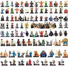 HOT 8pcs/lot Marvel Super Heroes Avengers Minifigures Building Blocks Sets Anime Bricks Toys Compatible star wars Figures