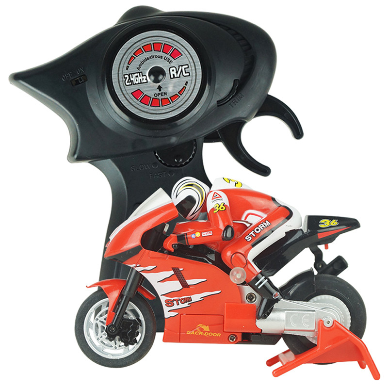 New 8012 3CH Mini High Speed Remote Control Motorcycle w/ Gyro Red FCI#(China (Mainland))