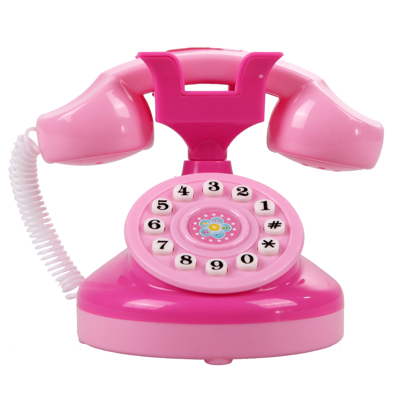 Play Toys For Girls : Educational emulational pink phone pretend play toys girls