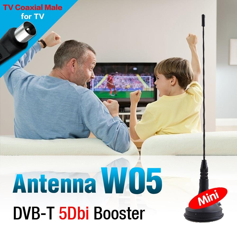 DVB-T TV HDTV 5dBi Booster Antenna With Magnetic Base 5dbi tv hdtv antenna for mini dvb-t usb receiver + base(China (Mainland))