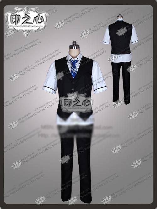 Le Fruit De La Grisaia yuuji kazami Cosplay Costume Japan Anime Halloween Uniform Shirt+Pant+Vest+Tie