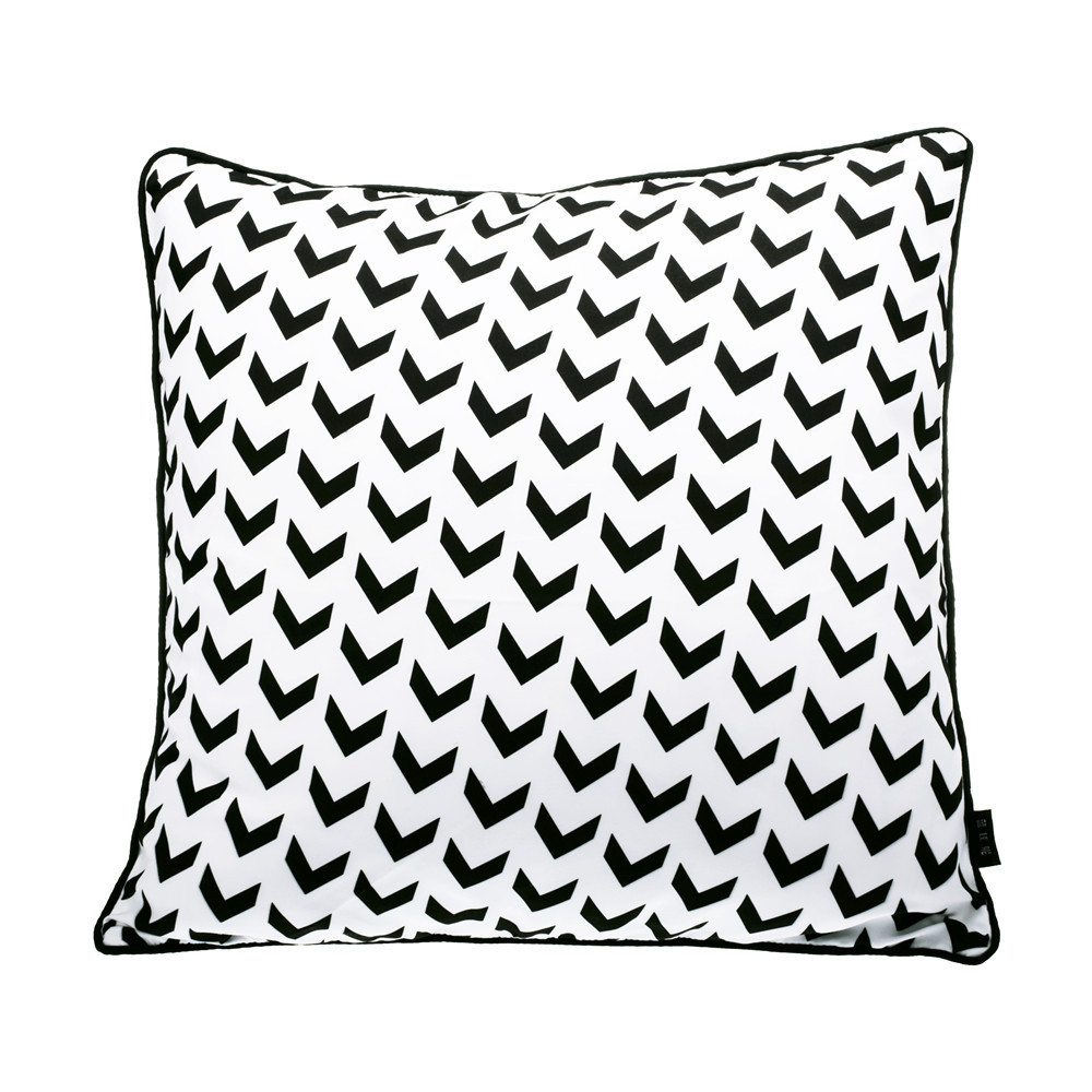 White Decorative Throw Pillow Covers : Modern Geometric sofa cover cushion black white throw pillow covers Decorative cushion covers ...