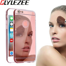 Glylezee Mirror Cellphone Cover Case for iPhone 5 5S 5SE 6 6S 6 Plus Ultra Slim TPU Soft Transparent Protective Back Cover Shell