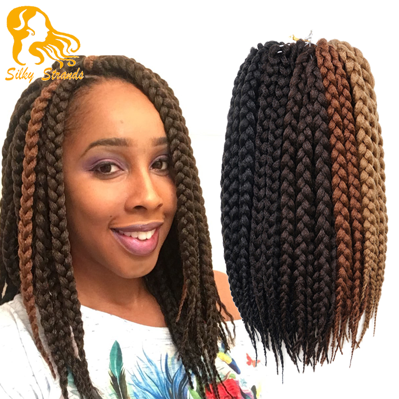 Crochet Braids European Hair : 12 Box Braids Hair 80g/pack 3S Freetress Crochet Box Braid Syntheti...