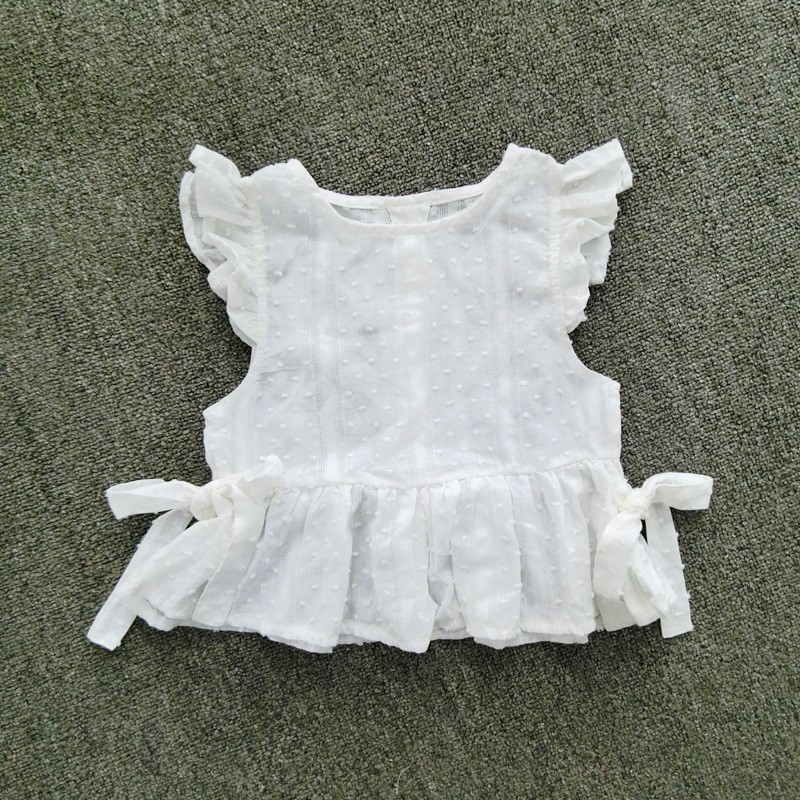 New fashion Baby girls blouses sleeveless shirts children bowknot jacquard vests kids cute kawaii korean style clothing