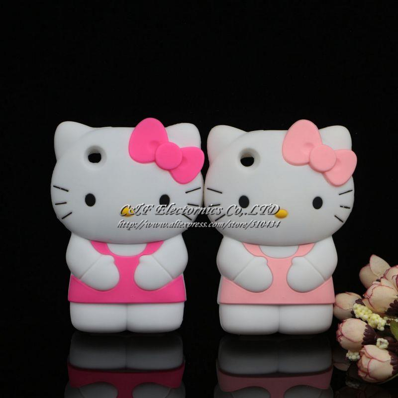 New 3D Cute Cartoon Hello Kitty Silicon Soft Case For iPhone 3 3G 3GS Case(China (Mainland))