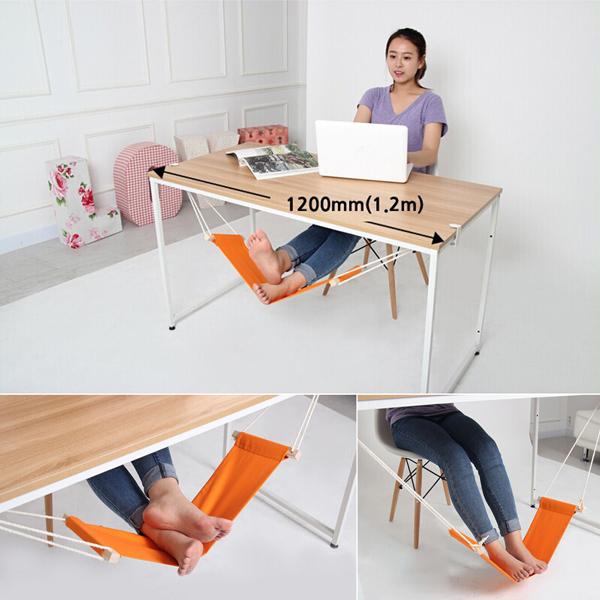Гаджет  Office Foot Rest Stand Desk Feet Foot Hammock Easy to Disassemble Study Outdoor Orange New Portable Mini  None Мебель