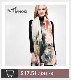 [VIANOSI]  European Style Winter Scarf Women Warm Shawl Brand Square Scarves Best Quality Cotton Scarf Woman Bandana VA094