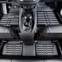 Floor Mats Auto Foot Mat Car Step Mats For Audi A8L Limousine 2008.2009.2010.High Quality Solid Color Mats.