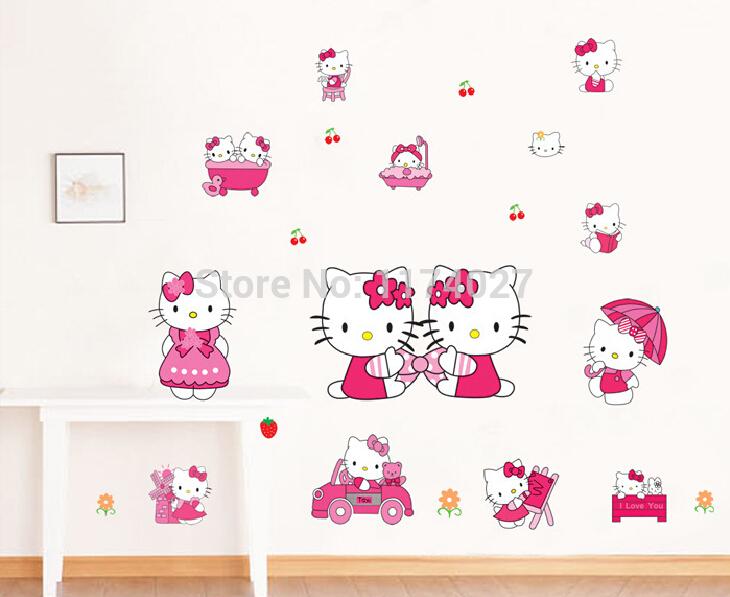 Hello Kitty Decoratie Slaapkamer : Hello Kitty Wall Decals