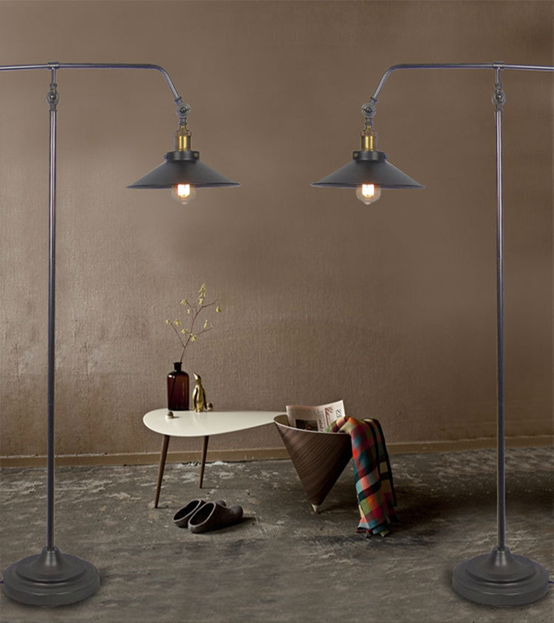 style floor lamp black living room standing lamp in floor lamps from. Black Bedroom Furniture Sets. Home Design Ideas