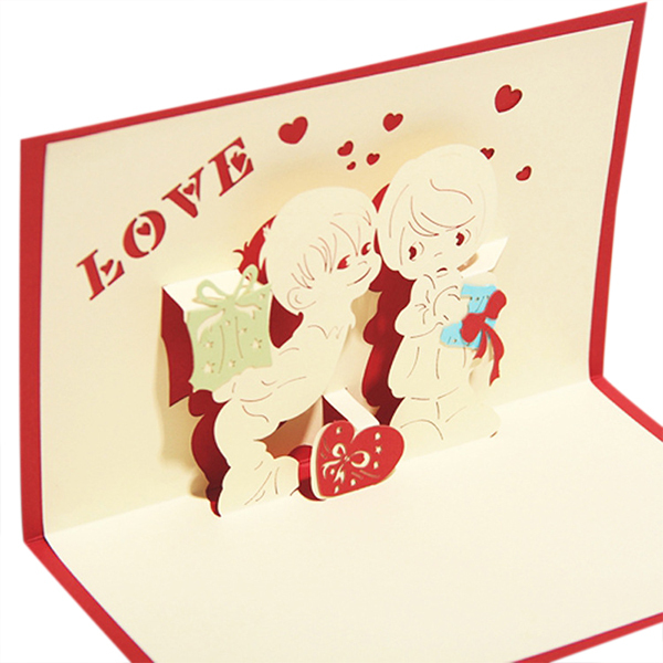Diy 14 designs lovely handmade paper 3d greeting cards for Christmas card 3d designs