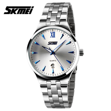 Buy Watches men luxury brand Skmei quartz wristwatch man full steel reloj hombre dive 30m Casual sport watch lovers' clock ladies for $8.30 in AliExpress store