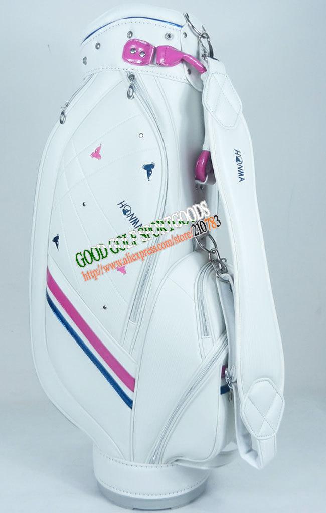 Free shipping New Fashion woman's Golf bag Honma PU High-Grade golf Cart Bag 9.5Inch With 3colors in choice golf clubs bag(China (Mainland))