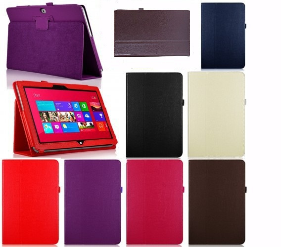New PU Leather Case Cover For Microsoft Win8 Surface Rt 10.6 Tablet PC 5 Colors Optional Brown Black White Red Purple(China (Mainland))