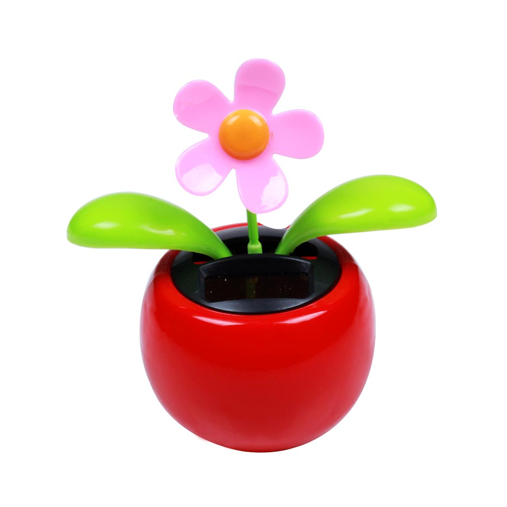 New Arrival Moving Dancing Solar Flower Flowerpot Swing Solar Car Toy Gift Home Decorating Plants(China (Mainland))