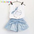 2016 Summer Toddler Girls Clothes Suits Baby Clothing Cotton Vest Shorts 2pcs set Children Costume 0