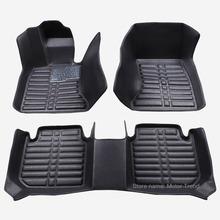 Custom fit car floor mats for Toyota Camry Corolla RAV4 Prado Highlander Sienna zelas verso 3D car-styling carpet liner RY53