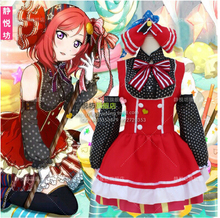 Fashionable Love Live Anime Nishikino Maki Lolita Dress Candy Cosplay Maid Set Costume Peppy Style Kawaii Costume