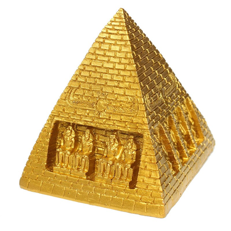 D cor aquarium pyramide for Ancient egyptian tomb decoration