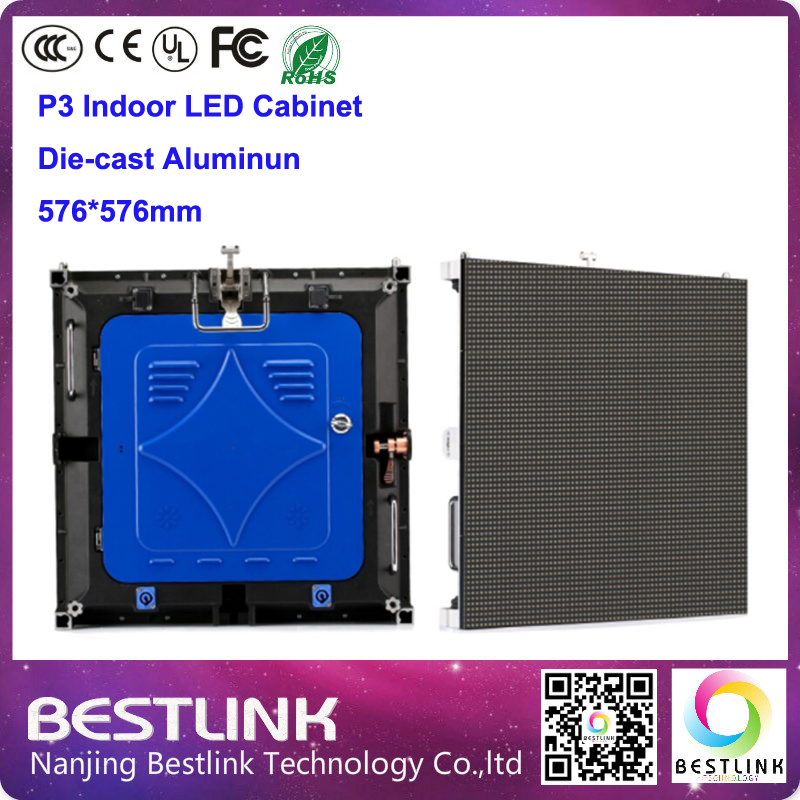p3 indoor led cabinet die cast aluminum cabinet 576*576mm led video wall for p3 indoor led display screen(China (Mainland))