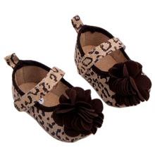 Cute Newborn Baby Girls Shoes Zebra / Leopard Striped Lace Flower Crib Shoes 0-12 M(China (Mainland))