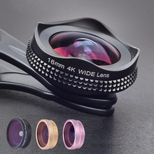 Buy APEXEL Pro universal 16mm 4k Super Wide angle Lens Circular Polarizing filter 2 1 camera lens kit iPhone/ Xiaomi for $19.49 in AliExpress store