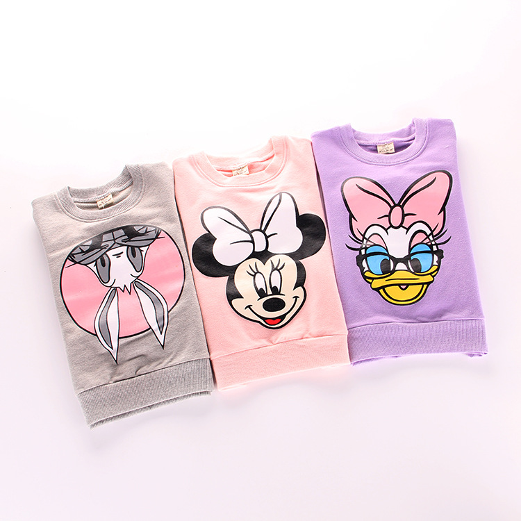 2016 spring new girl sweatershirt cartoon children clothing wholesale<br><br>Aliexpress
