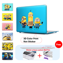Funny Minions Laptop Bag Case For Apple Macbook Pro 13 Case Air 11 13 Pro 15 Retina 12 13 15 For MacBook Air Pro Cover
