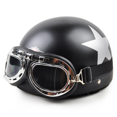 2015 Motorcycle Helmet Hot Selling Motor Scooter Capacete Open Face Half Helmet Motorcycle Motorbike +goggles+visor Fee Shipping(China (Mainland))