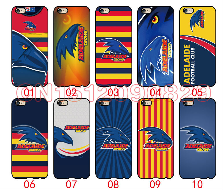 Adelaide Crows Cover Case For iPhone 6 6S Plus 5 5S 5C 4S iPod Touch 6 5 4 For Samsung Galaxy S2 S3 S4 S5 S6 S7 Edge Note 3 4 5(China (Mainland))