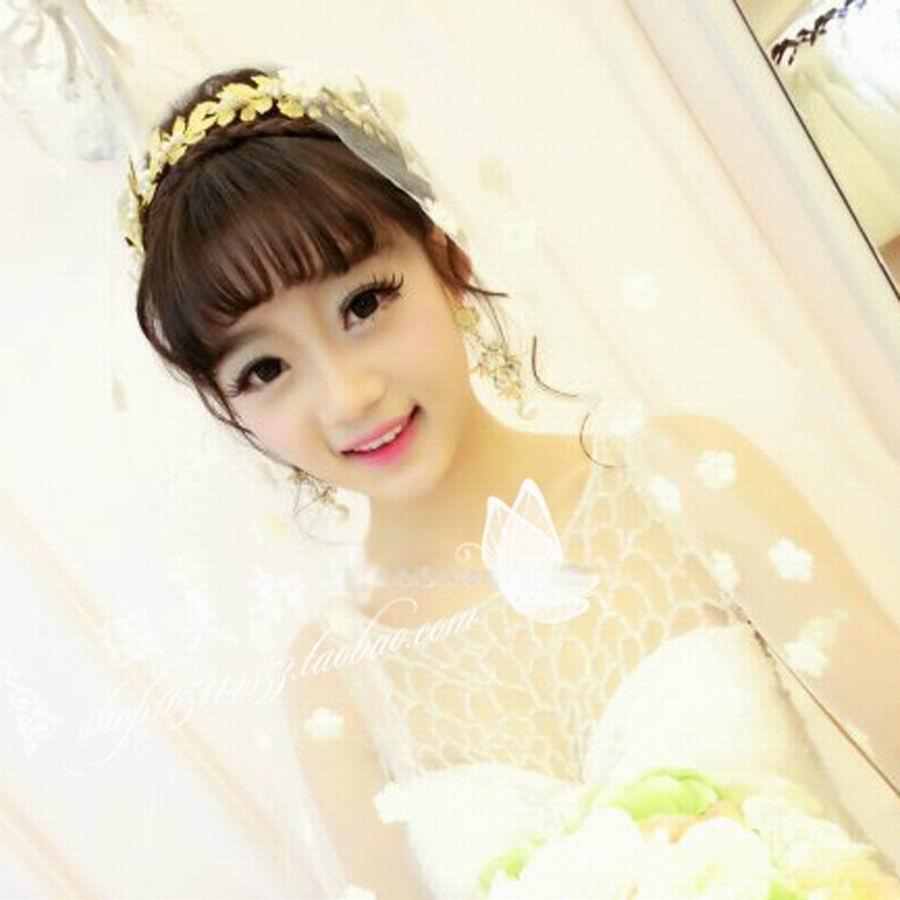 High quality gold bridal hairbands with rhinestone crystal imitation pearl crown tiara headpieces Wedding Hair Accessories EW237(China (Mainland))
