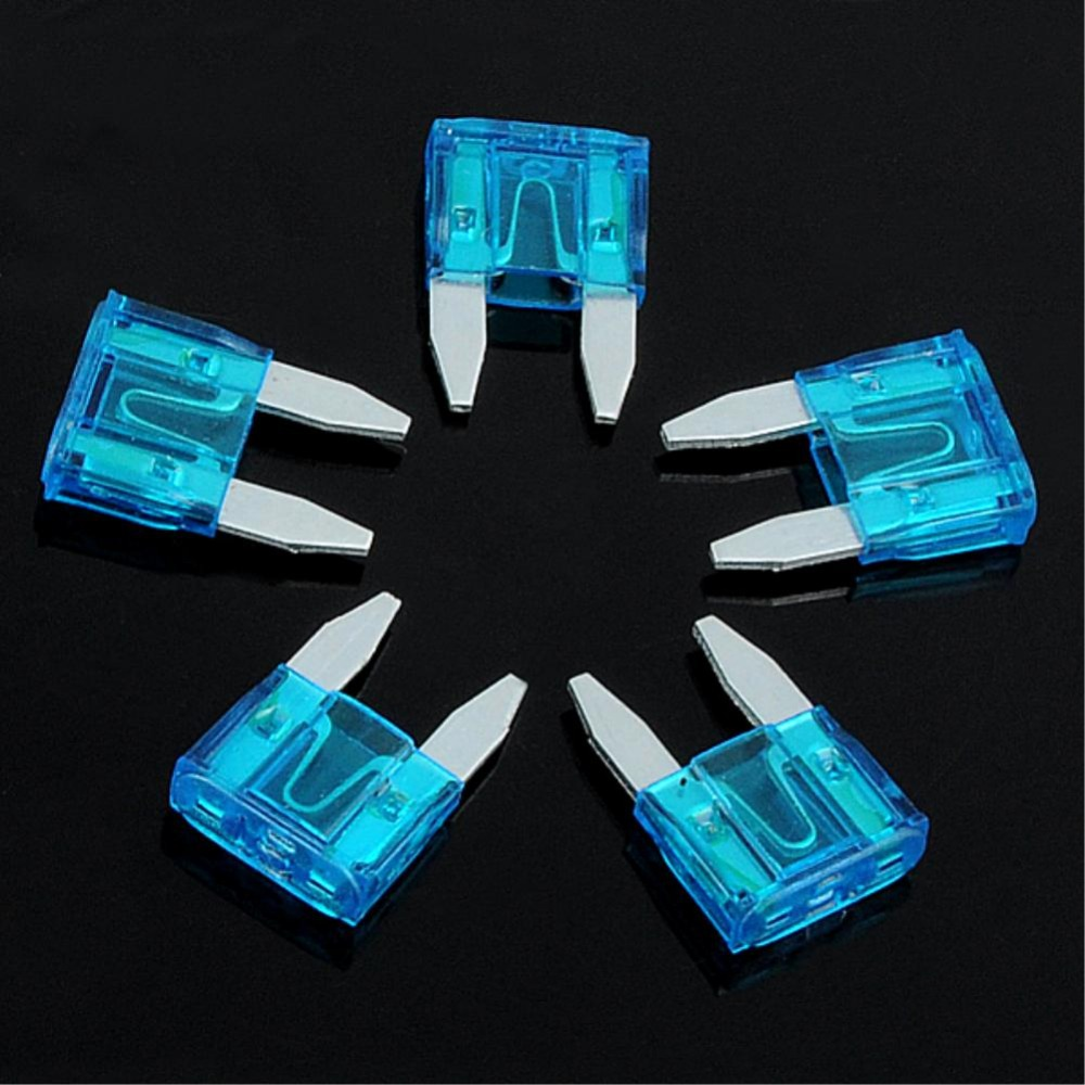 EG5829 PACK OF 10PCS 15A 15AMP ATM MINI SIZE BLADE TYPE CAR AUTO TRUCK FUSES BLUE
