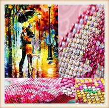 Diy diamond painting An umbrella of men and women embroidery diamond cross stitch crystal round diamond 34x45(China (Mainland))