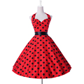 Summer style 2016 Womens clothing Polka Dots retro 50s Vintage Dress robe Rockabilly Swing Party Plus