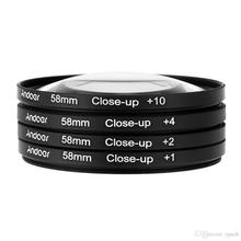 Buy Free + tracking number 58mm MACRO Close-Up +1 +2 +4 +10 LENS Filter Close SET canon nikon pentax sony SLR for $11.99 in AliExpress store